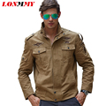 LONMMY M-6XL Military jacket for men coat Cotton jaquetas Brand clothing Bomber men's jacket 2016 New Army jackets mens coats