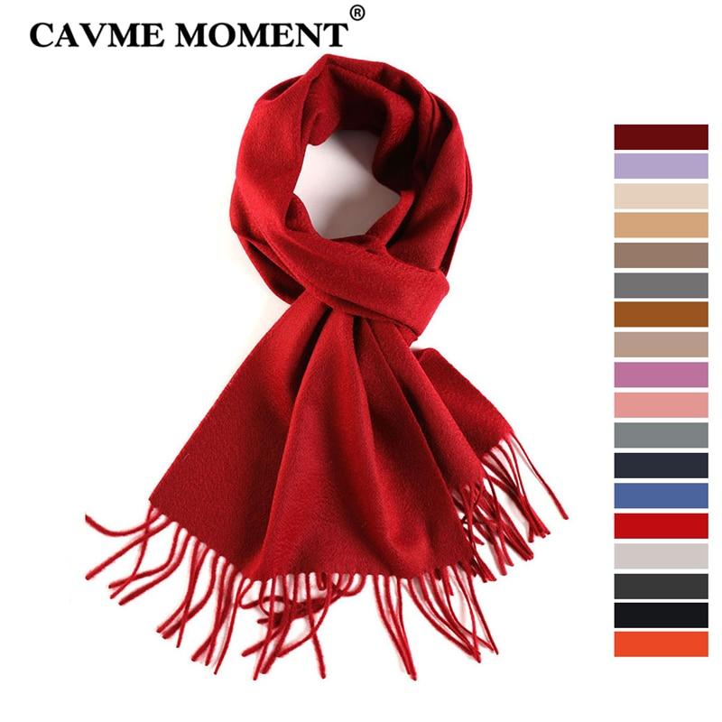 CAVME TOP Grade 100% Cashemere   Scarf   for Girls Boy Kids Solid Color   Scarves     Wraps   Shawls with Tassel 28*180cm 120g CUSTOM Letter