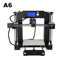Anet A6 3D Printer Printing Size 220*220*250mm Open Source Firmware Reprap Prusa i3 DIY 3D Printer Kits