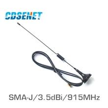 Anten antena ufh de alta ganancia, conector TX915 XP 100 SMA, antena magnética de 915 MHz para comunicación inalámbrica, 2 uds., 915 MHz