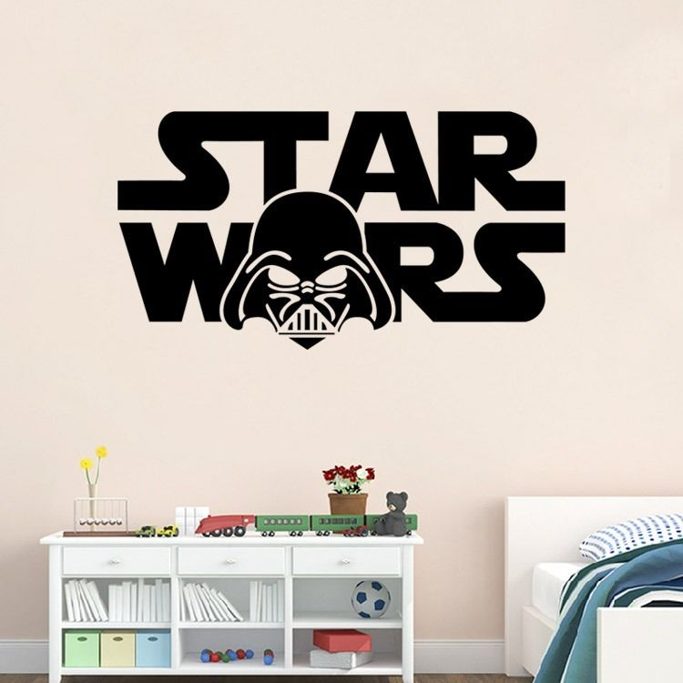 STAR WARS Helmet Removable Wall Sticker Bedroom Vinyl Art Decal Home Decor  Room Poster(China