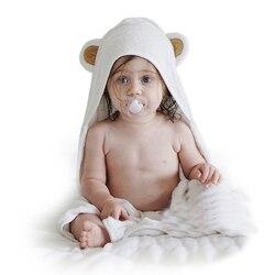 Ręczniki dla dzieci dzieci włókno bambusowe noworodek oddychający chłopiec koc miękkie ręczniki Cartoon wygodne kwadratowe ręczniki kąpielowe z kapturem w Ręczniki od Matka i dzieci na