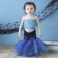 Newest 5 Color Meimaid Baby Girls Dresses Cute Green Fishtail Tutu Set Under The Sea Photo Prop Outfit Fishy Halloween Costume