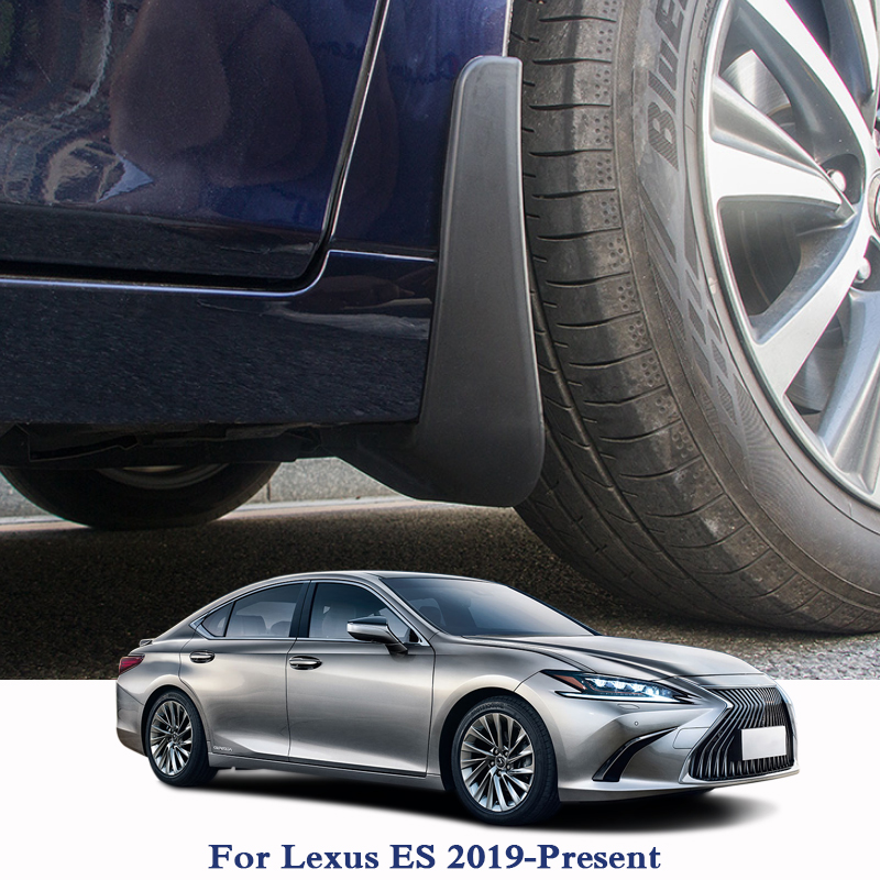 4pcs Car Styling ABS Mud Flaps Splash Guard Mudguard Mudflaps Fenders Perfector For Lexus ES 2019