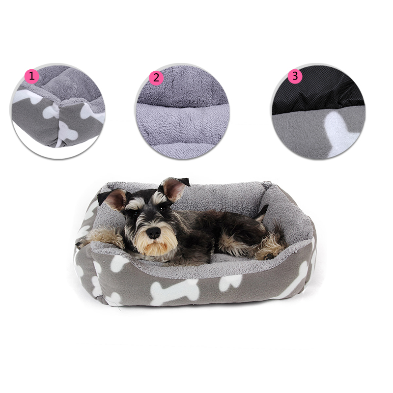 Soft Dog Bed House & Sofa Super Cozy Velvet Cat House Nest Pet Mat Warm Breathable Cat House Sofa Pillow Dog Basket Cushion Pet