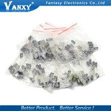 12valuesX10pcs = 120 шт. 0,22 мкФ-470 мкФ Алюминий электролитический конденсатор с алюминиевой крышкой, компонент diy кабельные наконечники в наборе для и