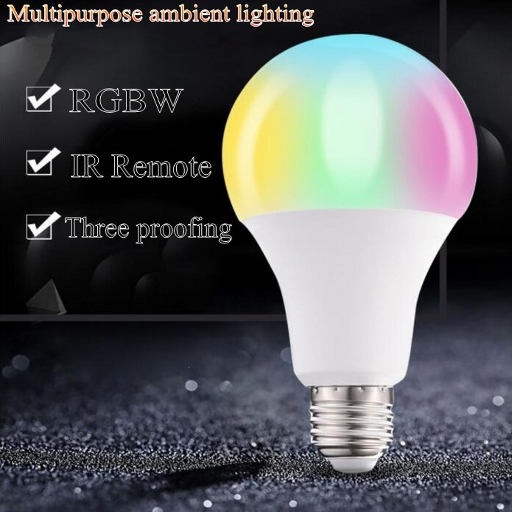 110V 220V E27 RGB LED Bulb Light 9W 12W 15W 20W RGB Lampada Changeable Colorful RGBW LED Lamp With IR Remote Control+Memory Mode