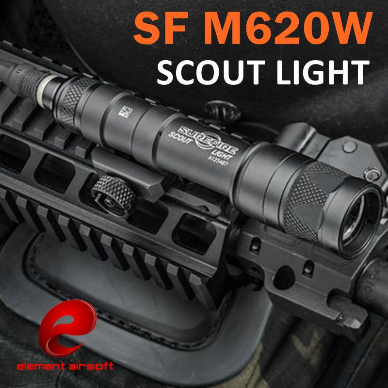 Element Airsoft SF M620W Tactical Scout light LED weapon flaslight Full New version EX378 wipson sf m600b mini scout light for tactical gun flashlight led weapon light pistol flashlight with remote tail switch