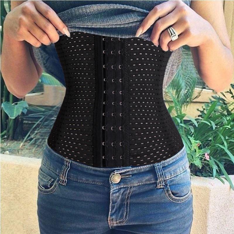 Mulheres Trainer Cintura Cincher do Espartilho do Osso de Aço Cinto Shaper Corpo Fajas Cinto Elasticat Slimming Tummy Controle Shapewear Underbust