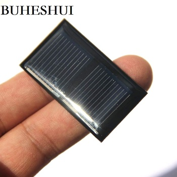 BUHESHUI 0.125W 1V Mini Solar Cell Polycrystalline DIY Solar Panel Toy Battery Charger Study Epoxy 1000pcs 45*25MM