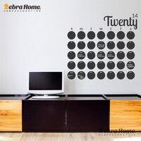 DIY Large Chalkboard Calendar Weekly Wall Decal Sticker Planner Home Decor Art Removable Vinyl Modern Blackboard