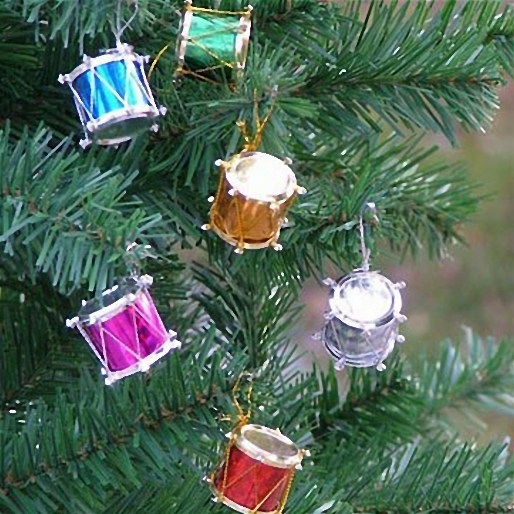 12PCS Colorful Drums Christmas Holiday Party Charms Festival ...