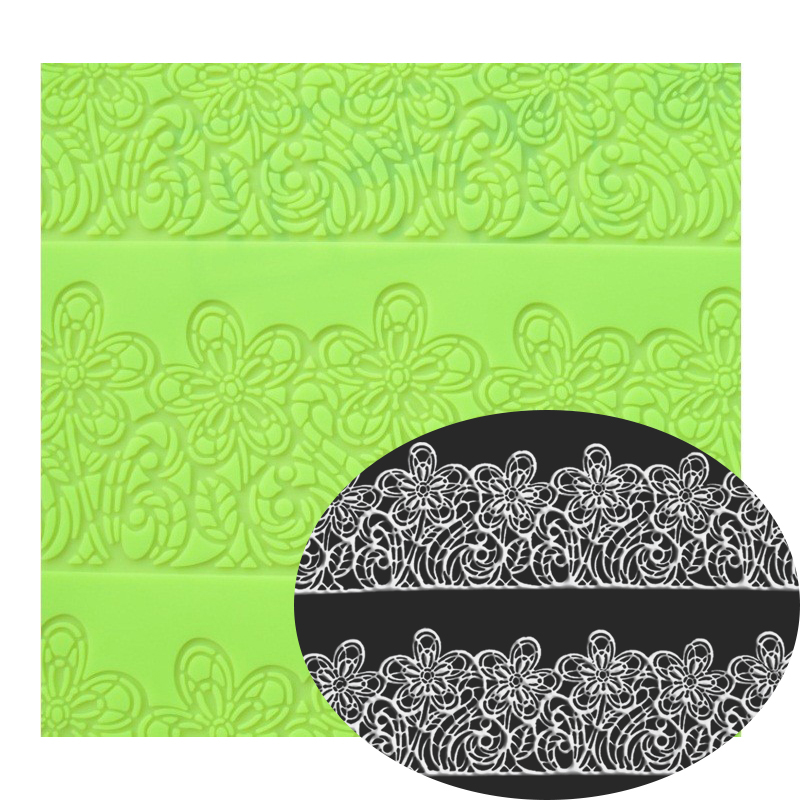 39 * 29 CM Big Size Bunga Cake lcae Mold Decorating Fondant Silicone Mold Sugar Lace Mat Embossing Rolling Mat