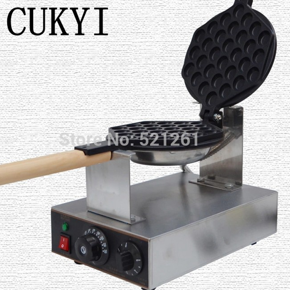 CUKYI Stainless Steel Electric Eggettes Egg Waffle Maker kitchen appliance high quality free shipping stainless steel electric eggettes egg waffle maker rotated 180 degrees
