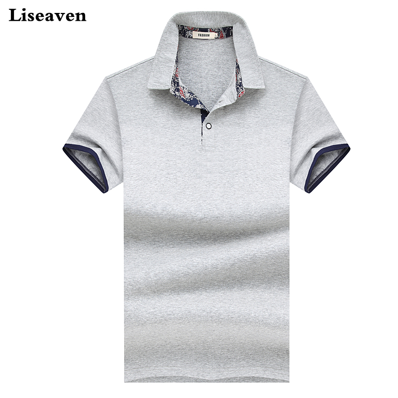 Liseaven Men's   Polo   Shirt Casual   Polos   Solid Color Cotton Slim Fit   Polos   Top Camisas Masculinas   Polo   Shirts Short Sleeve Tops