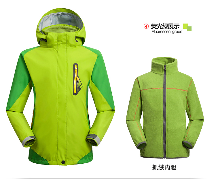 2015 New Brand Children Sport wear Outdoor Breathable Windproof Hiking 2 Layer Spring Winter Fall Ski Jacket kids Waterproof brand new autumn winter men hiking pants windproof outdoor sport man camping climbing trousers big sizes m 4xl free shipping