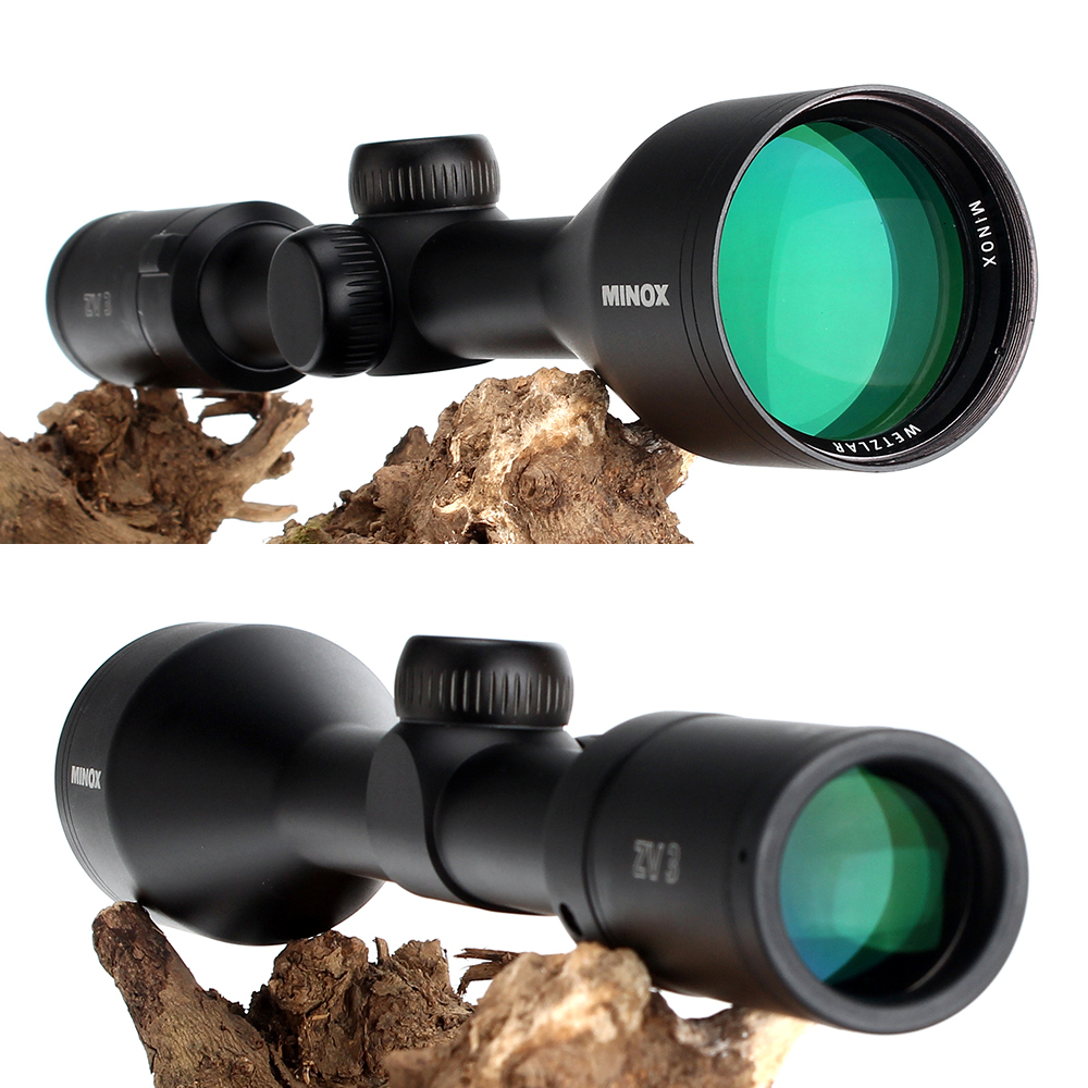 Hunting MINOX ZV 3 3-9X50 BDC 400 Reticle Rifle Scope 1 Inch Tube Long Eye Relief Tactical Optical Sight RifleScopes