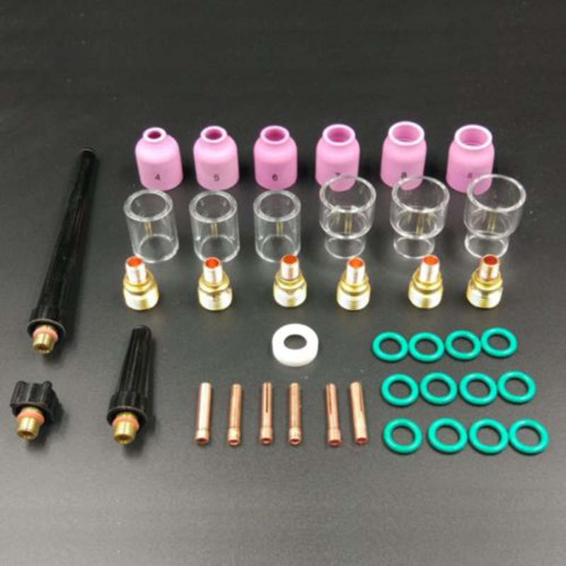 Lots 40X TIG Welding Torch Stubby Gas Lens Pyrex Glass Cup Tool For WP-9/20/25