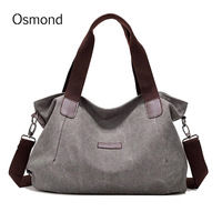 Osmond New Arrival Casual Women Handbags Large Capacity Canvas Shoulder Bags Crossbody Tote Bag Women Messenger