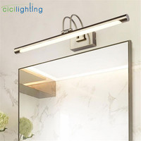 2018 New Design L42/52/62/72cm Modern LED bathroom mirror front light 110V,220V,240V bronze vanity toilet wall lighting lamp