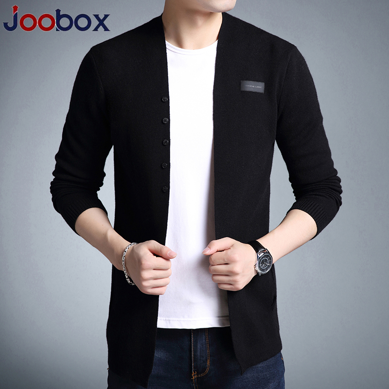JOOBOX 2018 New Sweater Men Autumn Casual Men Cardigan Classic Knitwear Sweater High Quality Black Pull Homme Men Clothes 3xl