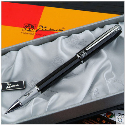 factory supplies grade office men's metal signature pen 0.5mm black normal gel pen business gift box package 7colors to choose автомагнитола usb kenwood kmm 103gy