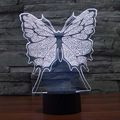 Creative 7 Colors Amazing Optical Illusion Butterfly LED Lamp Art Sculpture Night Light Produce Unique Lighting 3D Visualization