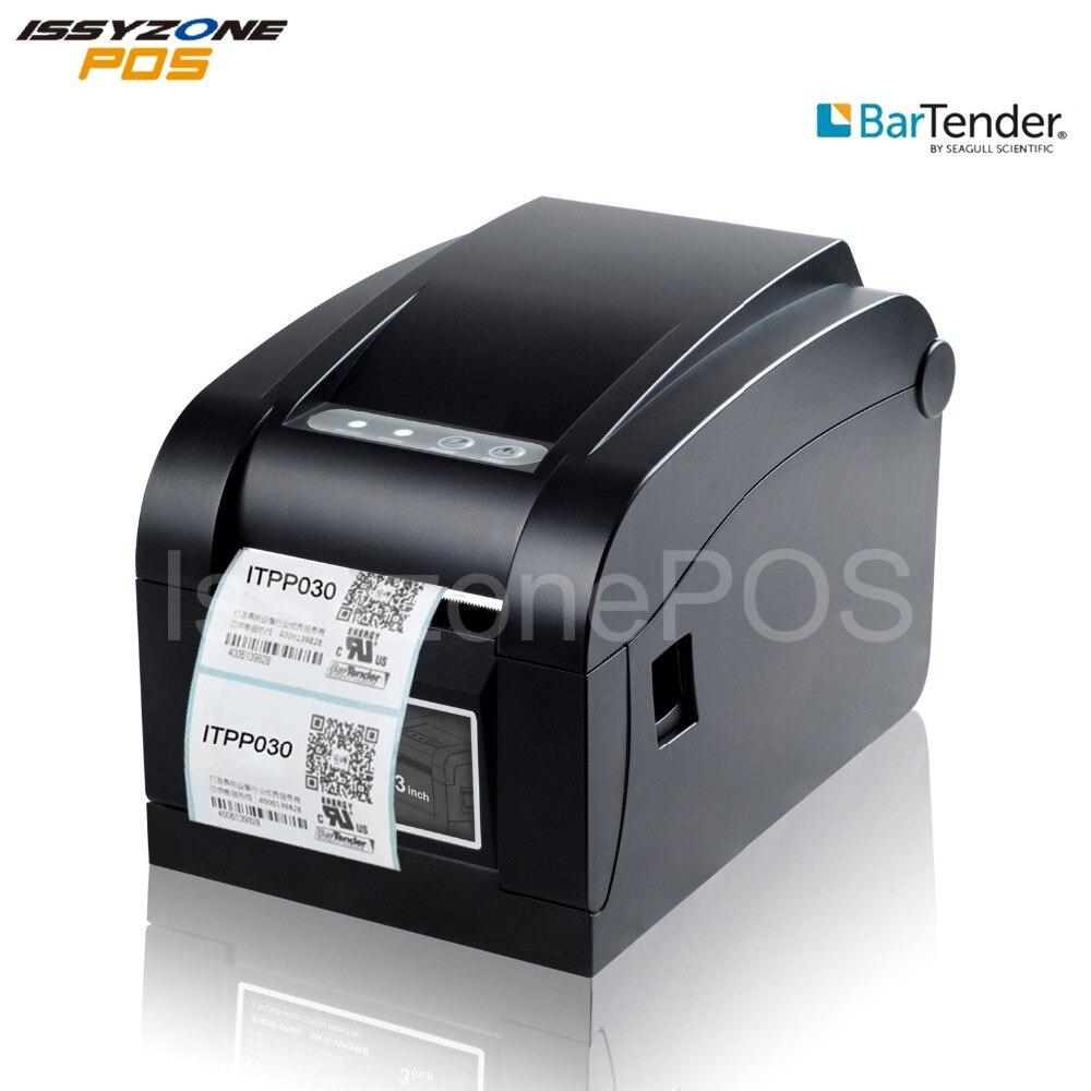 3 pouce Étiquette Imprimante Calibrage Automatique Autocollant Étiquette Thermique Imprimante Code À Barres 80mm USB/Série + USB + Lan ITPP030 Barman