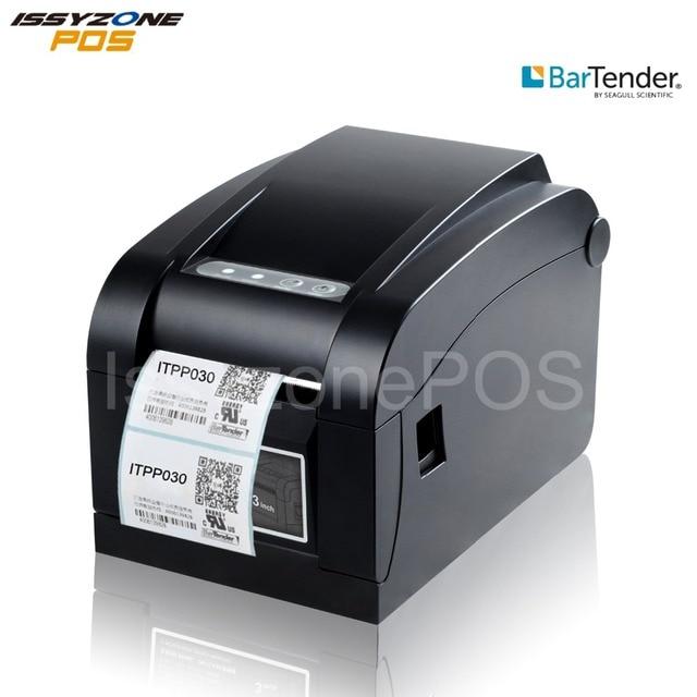 Impresora de etiquetas térmicas de código de barras ISSYZONEPOS Etiqueta de precio de impresión de papel de 3 pulgadas nota ajustable 80mm controlador suave gratis para windows