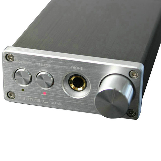 SMSL SD793-II Headphone Amplifier PCM1793 DIR9001 DAC Digital Audio Decoder Amplifier Optical Coaxial Input Black Silver 4