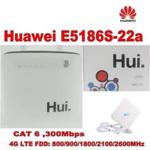 100% original unlock 300M huawei e5186s-22a 4g lte cpe super wifi router+35DBI Gain LTE Mimo Antenna цена в Москве и Питере
