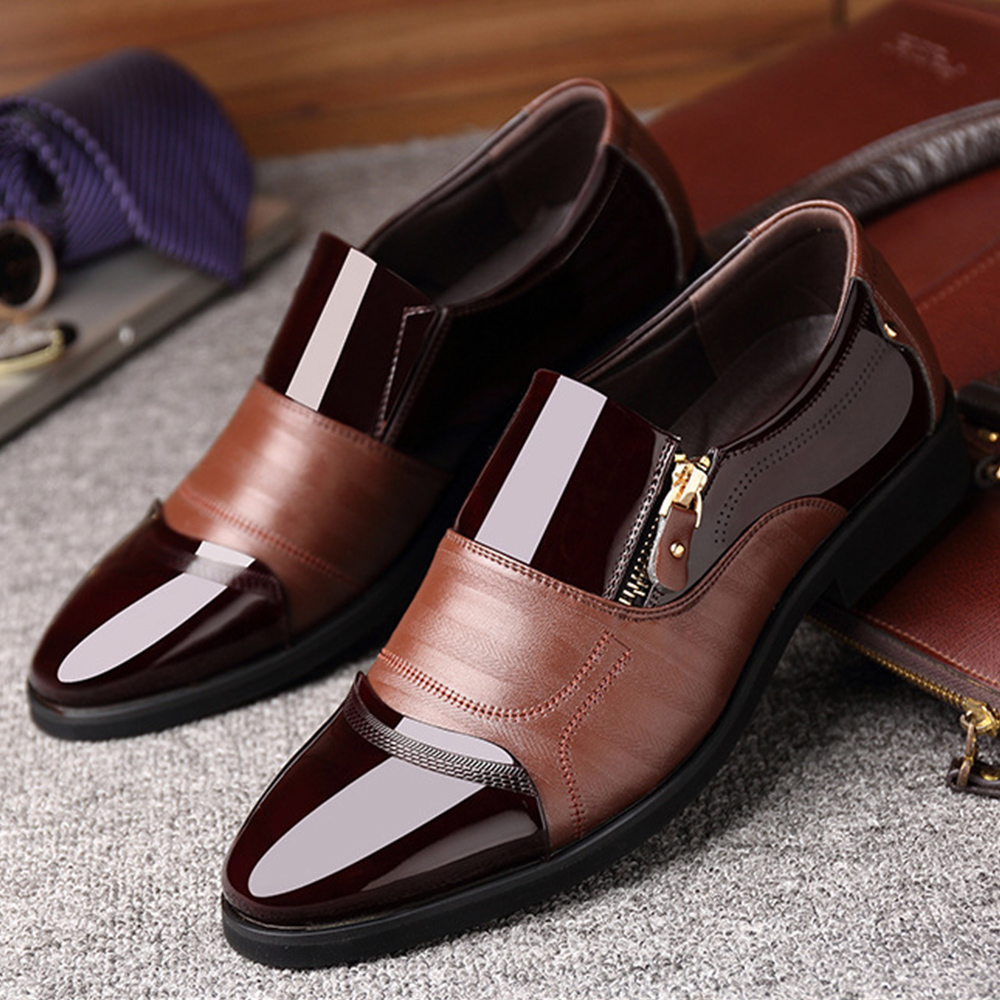 Summer Fashion Oxford Business Men Shoes 2019 Genuine Leather High Quality Soft Casual Breathable Men 39 s Flats Zip Shoes in Men 39 s Casual Shoes from Shoes