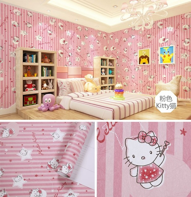 PVC Sticky Wallpaper From Pink Dormitory Pure Color Sweet Bedroom Furniture Refurbished 173