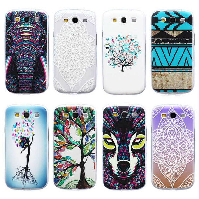 For Samsung S3 Case Silicone TPU Soft Thin Flower Luxury Phone Case for Samsung Galaxy S3 S 3 III GT-i9300 Back Covers