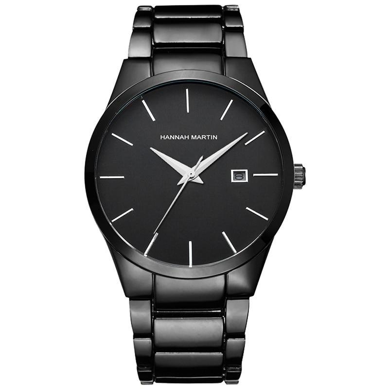 Men's Quartz Watch Mens Watches Top Luxury Brand Steel Analog Male Wristwatch relogio masculino Display Date Military Clock Xfcs