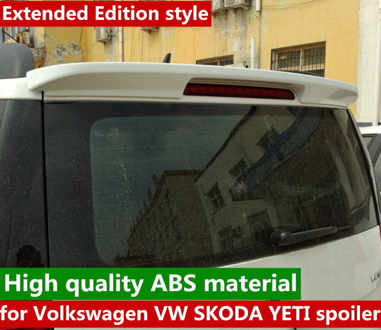 car rear window roof spoiler wing for 2017 to 2019  SKODA YETI by white black color or primer paint spoilercar rear window roof spoiler wing for 2017 to 2019  SKODA YETI by white black color or primer paint spoiler