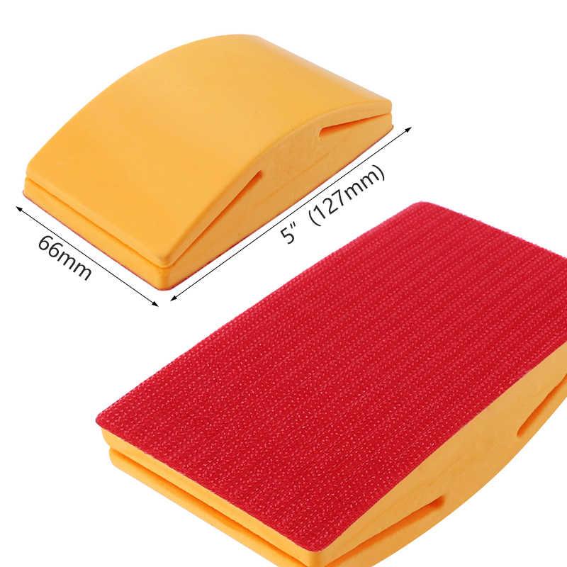 5 Inch Schuren Blok Rubber Haak Lus Backing Pad Schuurpapier Houder Hand Slijpen Blok Polijsten Gereedschap