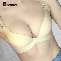 Beforw sutiãs femininos sutiã ajustável sem costura lingerie super sexy push up bra 6 cores tamanho grande sutiãs para roupa interior feminina sutiã|size bra|big size bra|bras for women -