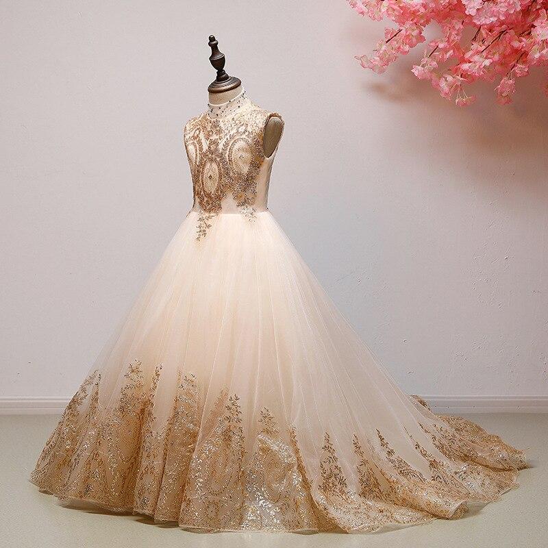 Fille Boutique robe de demoiselle d'honneur robes enfants tenue de fête de mariage robes adolescents demoiselle d'honneur robes de bal perles broderie Drese