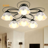 Ceremic chandelier light wrought iron chandelier bedroom living room dining lamps