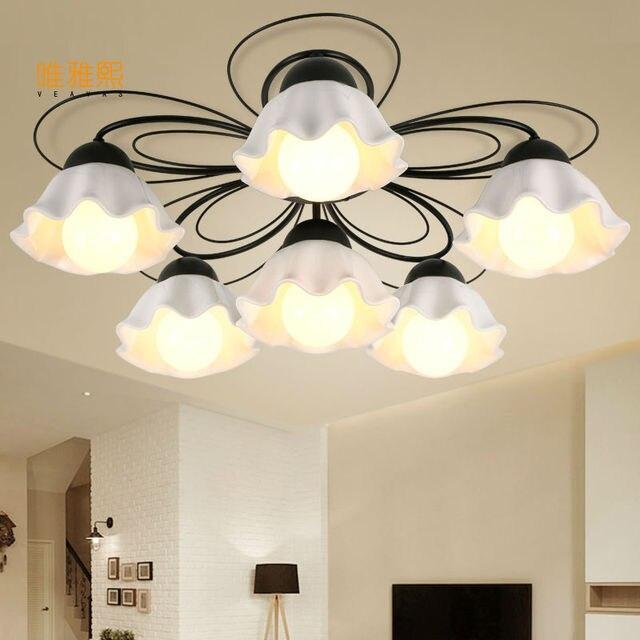 Ceremic lampadario luce lampadario in ferro battuto camera da letto ...