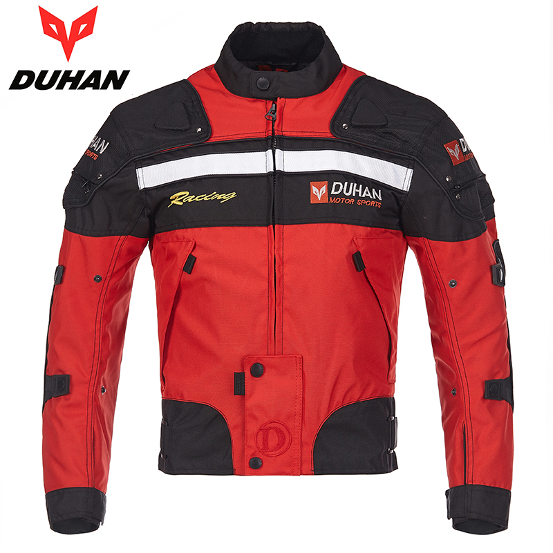 Genuine DUHAN Men Off road Racing Jacket Motorcycle Motocross Riding Clothes Summer Winter Warm Protector Motobike