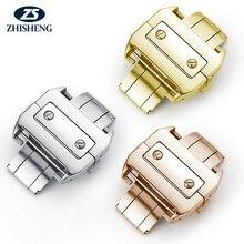 18mm personalizado relógio estilo bronze fivela de implantação borboleta fivela de fecho para pulseira de relógio