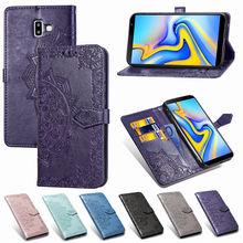 Flip cover for Samsung Galaxy J4 PLUS/J4 Prime J6 PLUS /J6 Prime Embossed embossed mandala case protector prime h370m plus