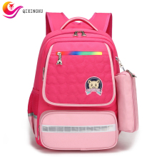 QIXINGHU Brand School Bag Cute Cartoon Luminous Boy Girl Bookbag Primary School Backpack For 1-6 Grade Kid Schoolbag Back Pack цена 2017