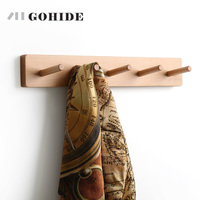 At The Beginning Of The Heart Wall Wood Beech Coatrack Hook Are Multifunctional Clothes Hanger Rack
