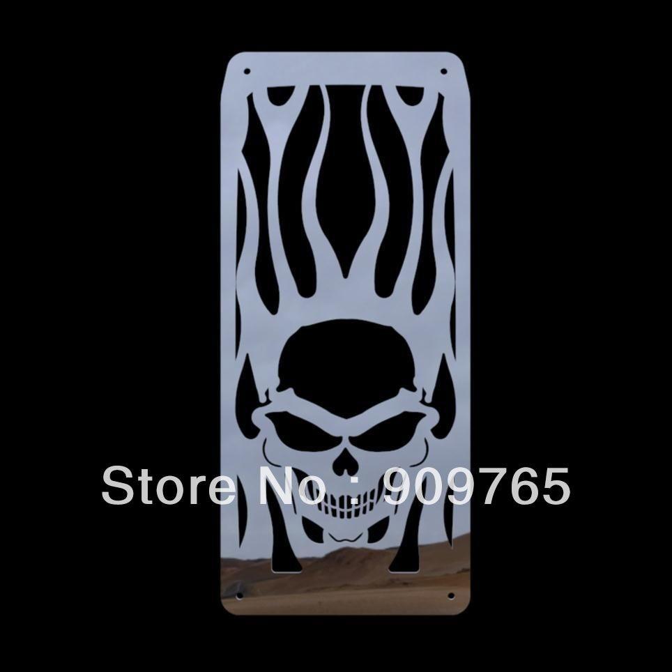 Skull Flames Radiator Grille Cover Stainless For Honda Shadow Velorex VT 600 Steed VLX 400 600