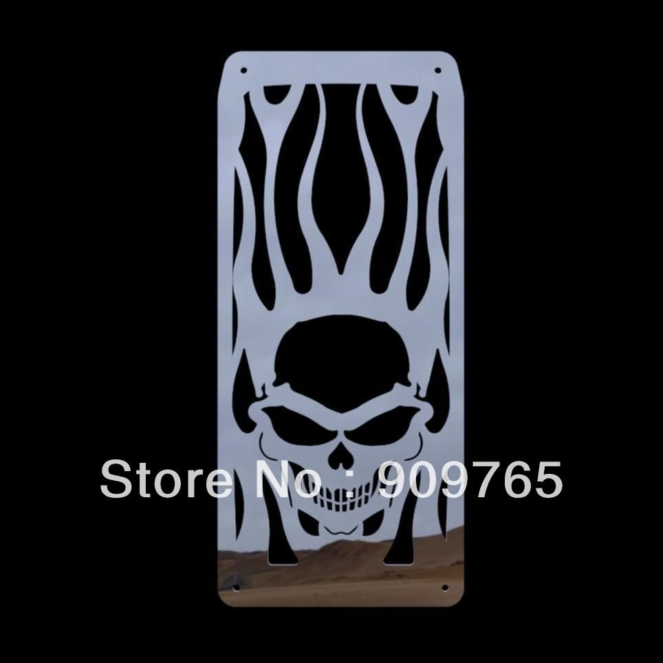 цены 1 pcs Skull Flames Radiator Grille Cover Stainless For Honda Shadow Velorex VT 600 Steed VLX 400 600 All Years