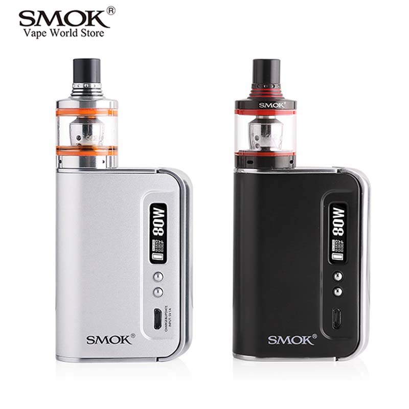 Electronic Cigarette Vape Kit Original SMOK OSUB Plus Spirals Kit with Atomizer E Hookah 80W Box Mod Vaporizer E Cigarette S012