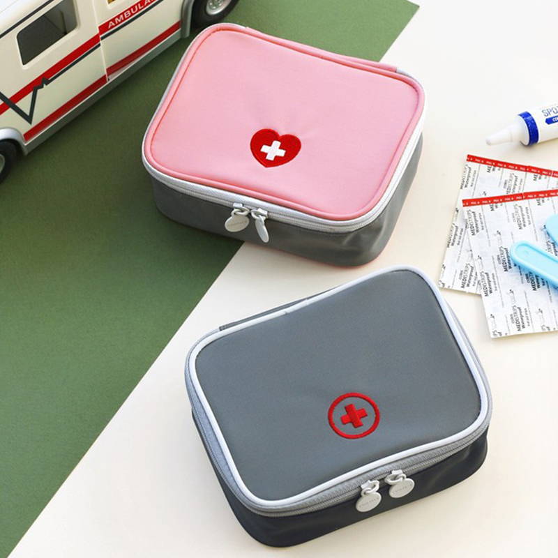 Portable Outdoor First Aid Kit Practical Household Storage Bag 13*10*4cm Carry Love Heart Small Drug Packet Portable Tool Bag